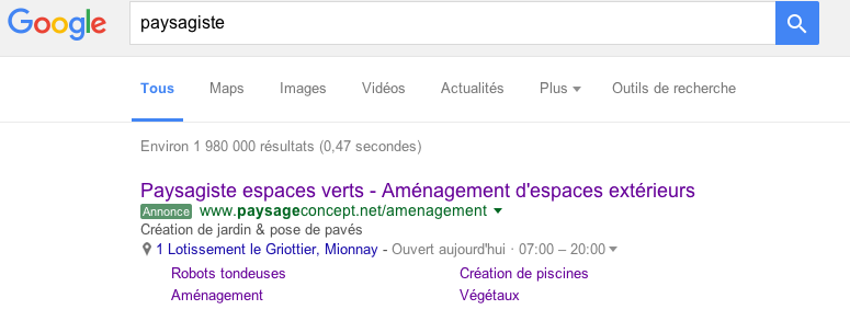 Market-on agence marketing Ain publicité Google Adwords