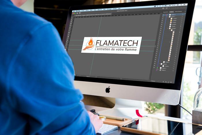 Marketing off-line- création d'un logo par notre équipe