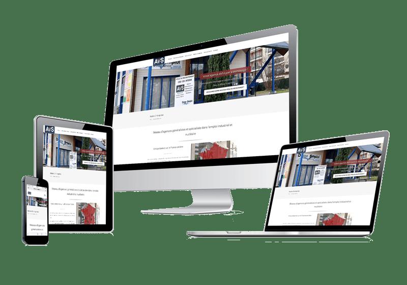 Site vitrine AVS développé par MARKET-On
